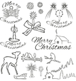 symbols of christmas vector image