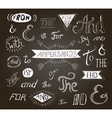 Vintage hand lettered ampersands and catchwords vector image