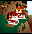 Tigers Nest Monastery vector image