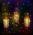 Set Arabic lamps for holy month of muslim vector image