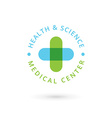 Medical center logo icon design template with vector image