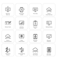 Business  Money Icons Set Flat Design vector image