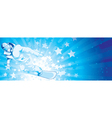 snowboarder with stars vector image vector image
