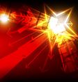 abstract star light vector image
