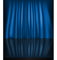 Abstract curtain blue background vector image