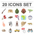 african safari cartoon icons in set collection for vector image