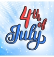 American Independence Day lettering vector image