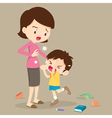 boy angry hitting mother vector image