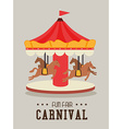 Carnival design over gray background vector image