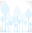creative blue tree background vector image