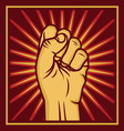 fist worker right2 resize vector image