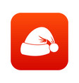 santa hat icon digital red vector image