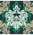 Vintage damask floral ornament vector image