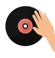 vinyl retro music icon vector image