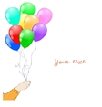 hand with baloons vector image