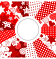 Abstract frame with stars and hearts vector image vector image