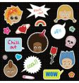 kids stickers vector image vector image