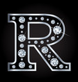 r letter made with diamonds isolated on vector image vector image