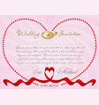 Ribbon wedding r1 vector image
