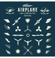 Abstract Airplane Labels or Logos vector image vector image