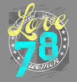 78 SEAL OF LOVE vector image