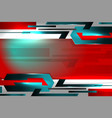 technology abstract red background vector image