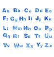 Watercolor blue font vector image