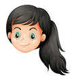 A face of a young lady vector image
