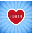 Beautiful card on Valentines day vector image