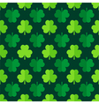 Clover shamrock leaves seamless pattern vector image
