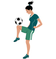 Female football player vector image