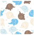 Seamless pattern with elephants vector image