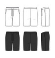sports shorts in white and black colors vector image