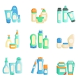 Cosmetc Products Bottles Sets Collection Of vector image