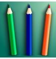 school color pencils vector image