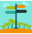 travelling concept in flat style vector image