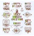 Merry christmas type label vector image
