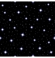 Celestial seamless background with sparkling stars vector image vector image
