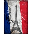 Hand drawn Eiffel Tower Paris vector image