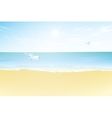 Seascape Paradise beach vector image