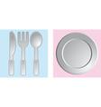 dinnerware vector image