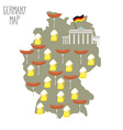 Map of Germany Beer and sausages Attraction Berlin vector image
