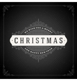 Christmas typography greeting card and flourishes vector image