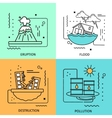 Disaster Damage Colored Icon Set vector image