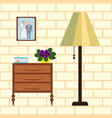 home interior with flower vector image