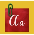 Paper clip with paper for notes vector image
