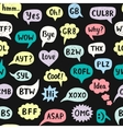 Seamless Pattern with Hand Drawn Internet Acronyms vector image