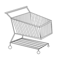 Shopping cart icon in outline style isolated on vector image