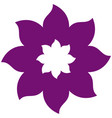thick contour violet with icon flower vector image