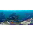 underwater topography vector image